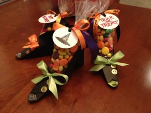 Finished Witch Shoes favors