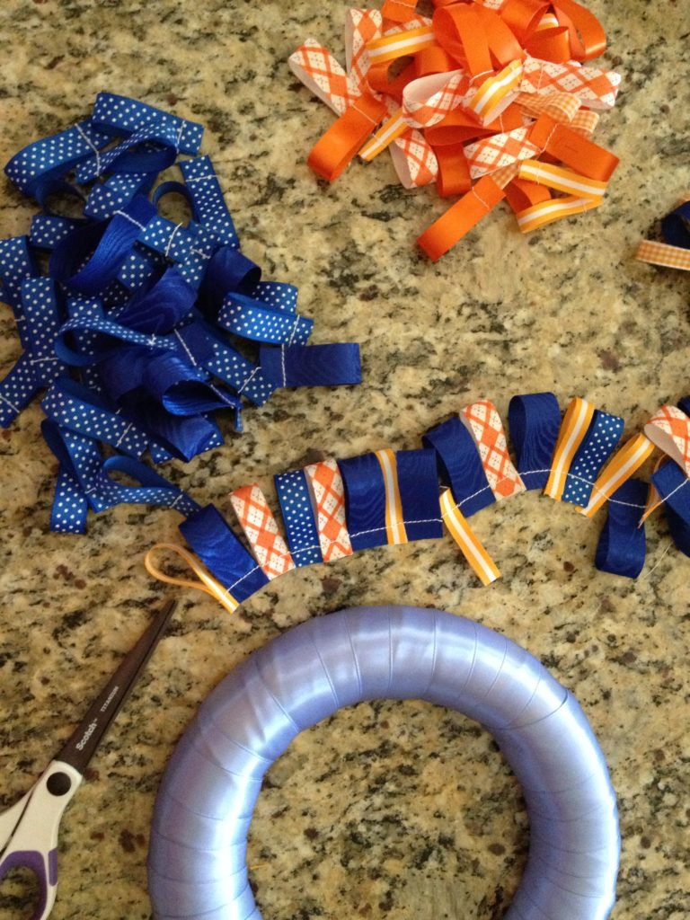 Ribbon Wreath How To - Little Blue Egg