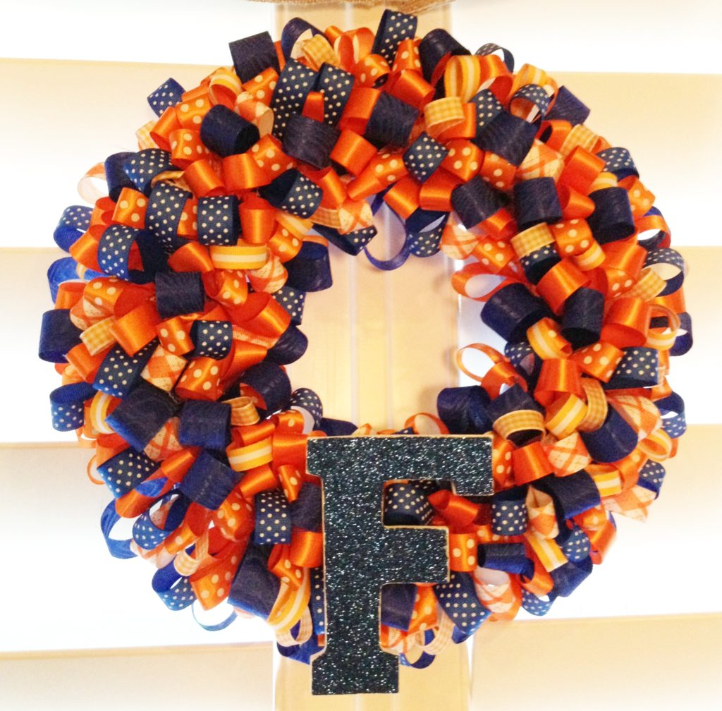 Florida Gator Ribbon Wreath - Little Blue Egg