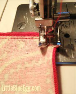 Step 4:  Sew sides