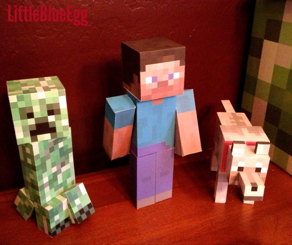 Minecraft party papercrafts