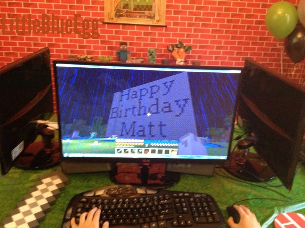 Minecraft party in game