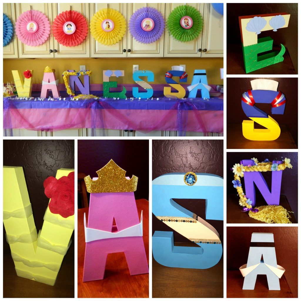 Princess Inspired Letters