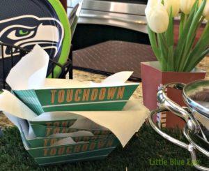 Football tray & vase