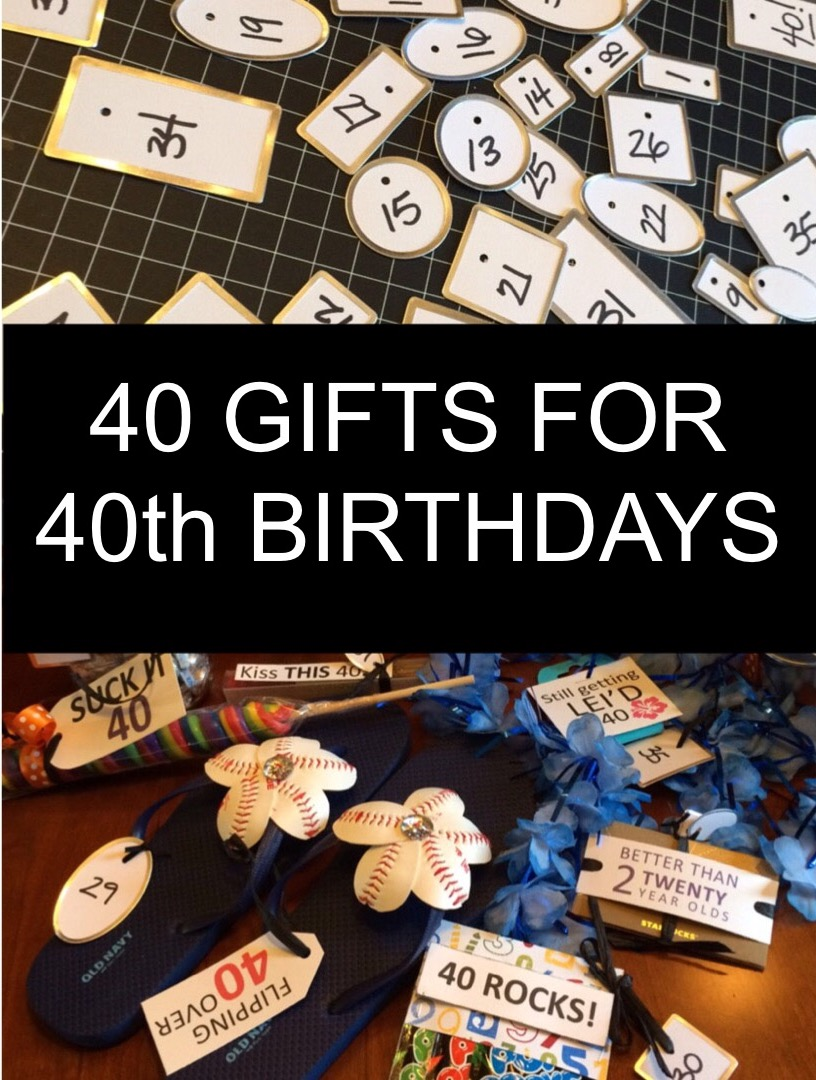 258 & 40 Gifts for 40th Birthdays - Little Blue Egg