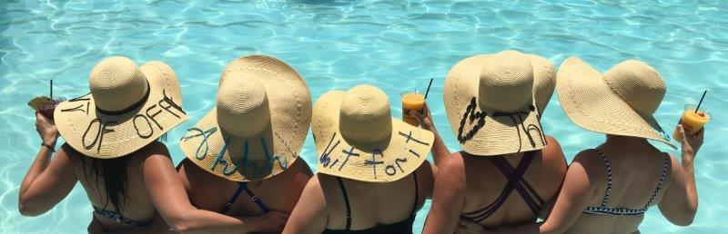 DIY Script Beach Hat party - Little Blue Egg