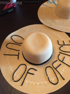 OOO script sun hat - Little Blue Egg