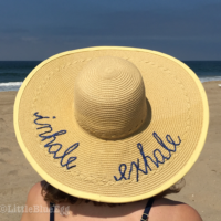 DIY Script Beach Hat-Little Blue Egg blog