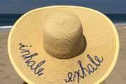 DIY Script Beach Hat-Little Blue Egg blog