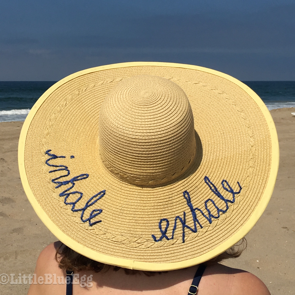 DIY Script Beach Hat - Little Blue Egg