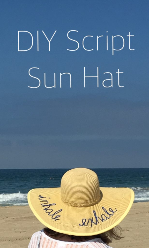 Script Beach Hat - Little Blue Egg