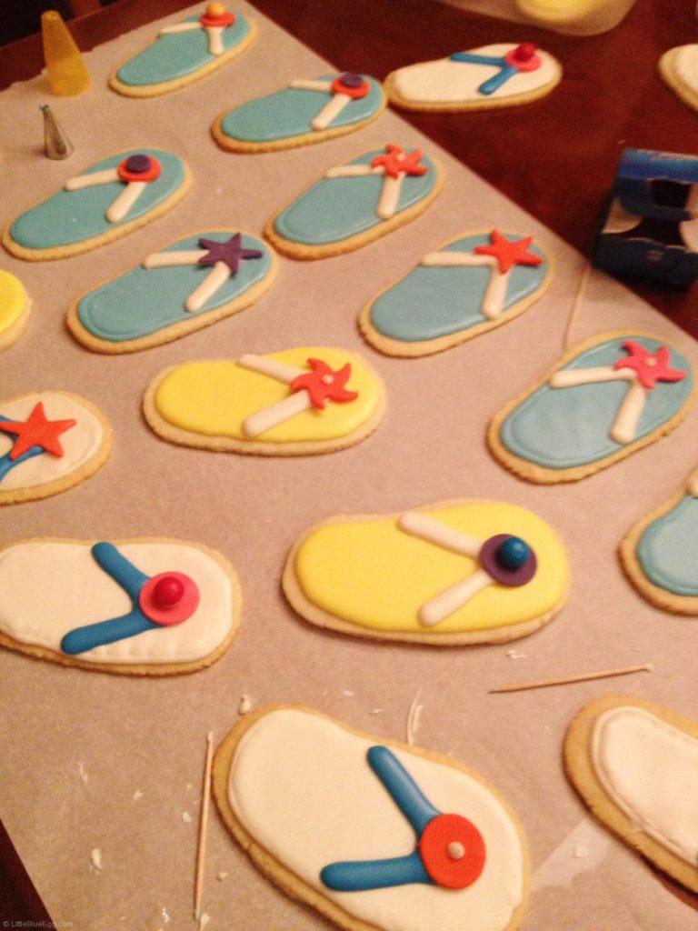 Flip Flop Cookies - LittleBlueEgg.com