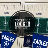 Soccer Field Locker Decoration