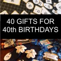 40 Gifts for 40th Birthdays LittleBlueEgg.com