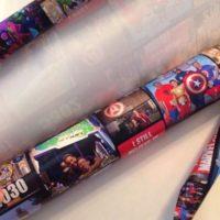 Custom Wrapping paper for poster tube LittleBlueEgg.com