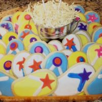 Flip Flop Cookies-LittleBlueEgg.com